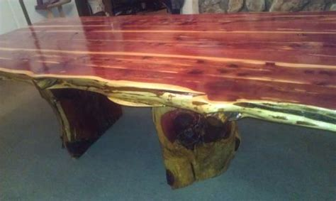 custom  edge cedar dining table set  cedar furniture lodge custommadecom