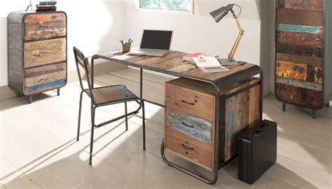 caisson bureau 3 tiroirs bureau en bois design vintage