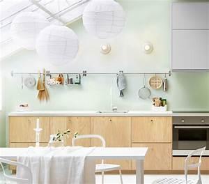 la cuisine passe a lheure scandinave elle decoration With idee deco cuisine avec lit type scandinave