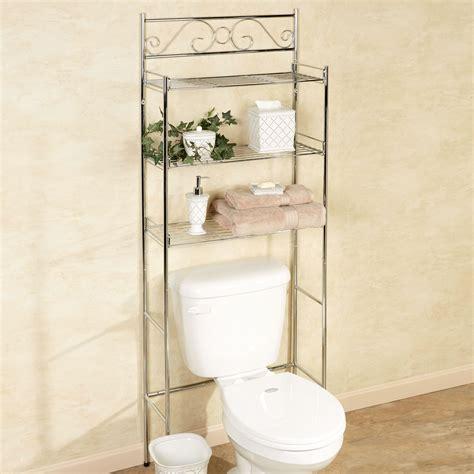 bathroom etagere toilet chrome scroll chrome bathroom space saver