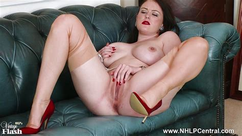 Big Tits Brunette Peels Off White Retro Lingerie Wanks