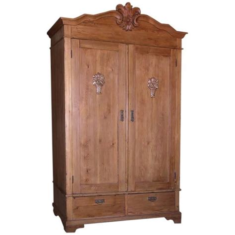 armoire vintage chambre antique armoire with carved details for sale at 1stdibs