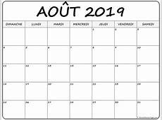 août 2019 calendrier imprimable calendrier gratuit