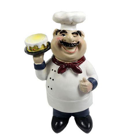 chef figurines kitchen decor cooking chef with cake figurine chef figure statue kitchen