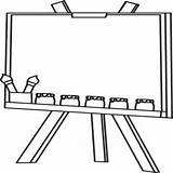 Easel Coloring Clipart Template sketch template