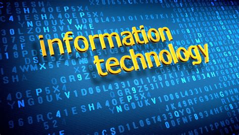 Information Technology Concept Over Animated Stock Footage