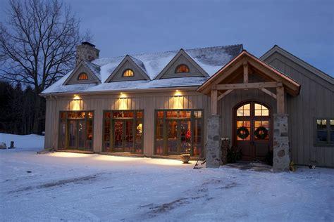 Timber Frame Timber Frame Home Exteriors   New Energy Works