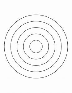 5 concentric circles clipart etc With bullseye template printable