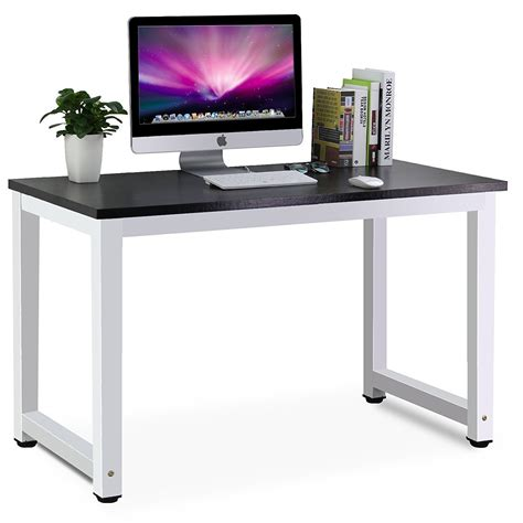 home office table desk tribesigns modern simple style computer desk pc laptop