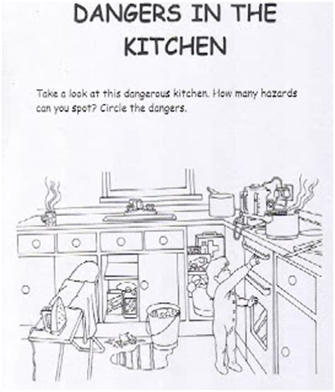 health and safety pictures in the kitchen