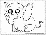 Elephant Coloring Printable Animals sketch template