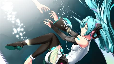 Anime Wallpaper Hd Hatsune Miku Hatsune Miku Wallpaper Hd 1080p Wallpapersafari