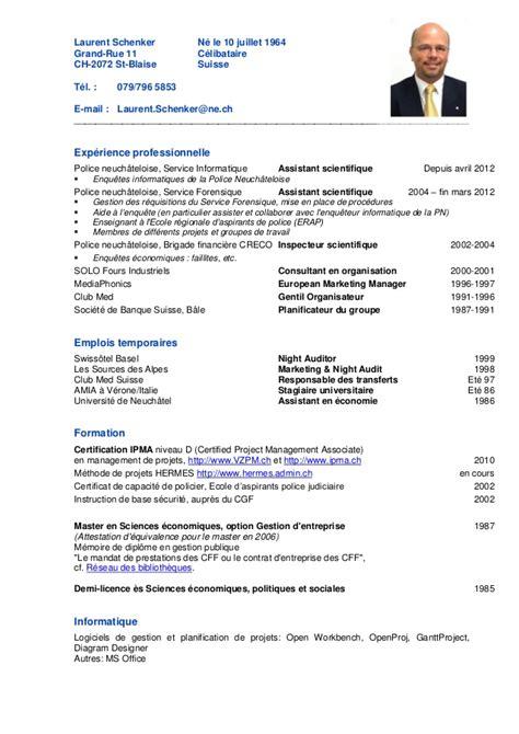 cours de cuisine suisse cv laurent schenker