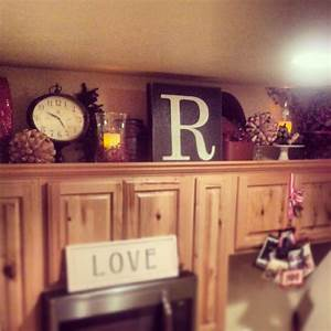 above cabinet kitchen decor crafty mally decorating With kitchen cabinets lowes with wall art hanging