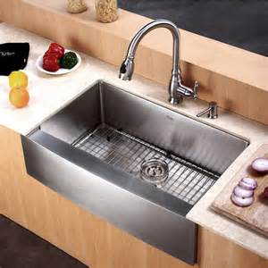 Home Depot Kraus Farmhouse Sink by Kraus 30 Inch Farmhouse Single Bowl 16 Gauge Stainless