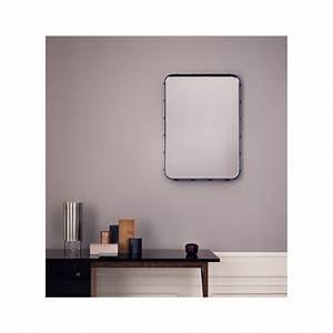 miroir adnet rectangulaire noir 70 x 48 cm gubi With miroir rectangulaire noir