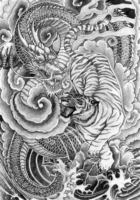 Japanese dragon and tiger | Tatuagem de dragão chinês, Tatuagem dragão e Dragões