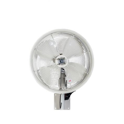 18 quot oscillating wall mount misting fan white misting