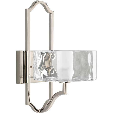 polished nickel sconces progress lighting caress collection 1 light polished
