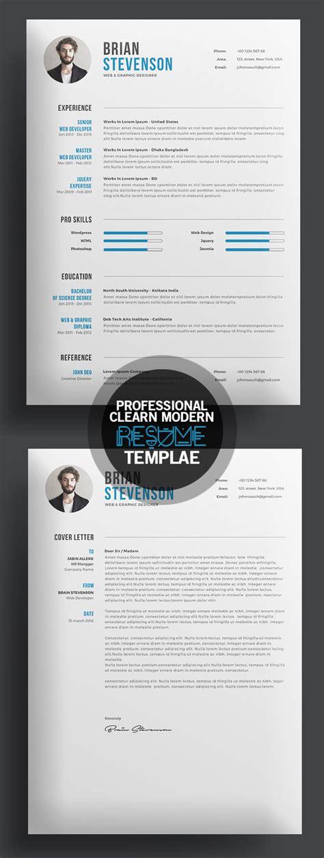 professional cv resume templates  cover letter design graphic design junction