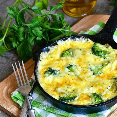 cuisiner brocolis frais omelette aux brocolis et fromage frais