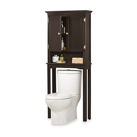 over the toilet cabinet bed bath and beyond fairmont free standing space saver cabinet in espresso