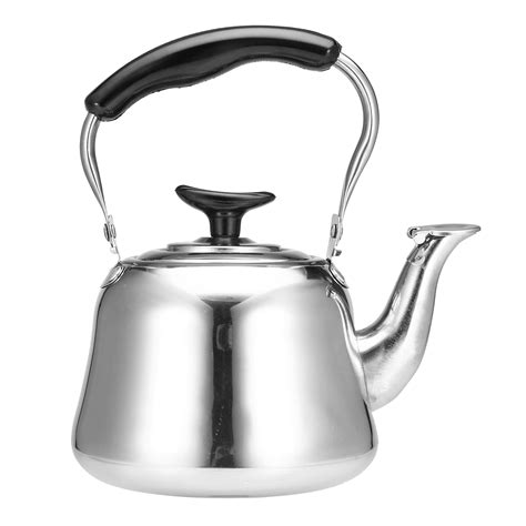 A tea kettle is the recommended method, followed closely by a standard saucepan. 1L Stainless Steel Whistling Kettle Boiling Water Tea Coffee Maker Silver Water Boiler | Alexnld.com
