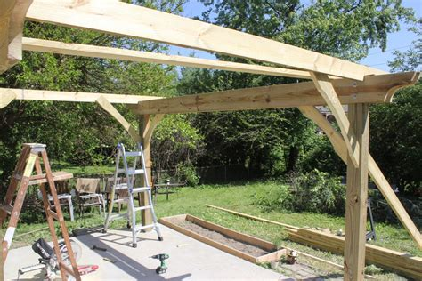 free standing deck bracing how to build a pergola in two days on a budget detailed