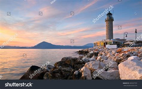 Lighthouse In Patras Greece Stock Photo 285537737