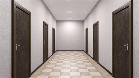 Corridor & Hallway : Corridor With Closed Doors Stock Video Footage