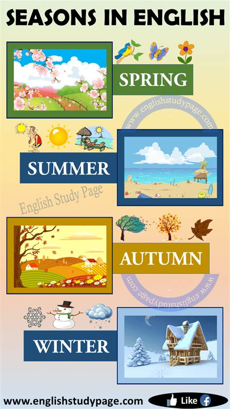 seasons  english english study page