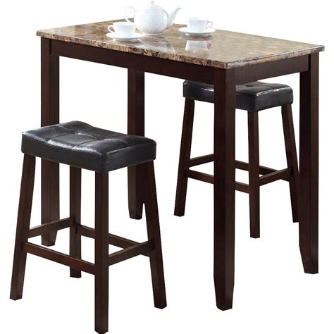 roundhill furniture 3 counter height pub table set