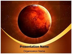 Planet Mars PowerPoint Template Background ...