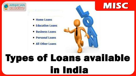 What Are The Various Types Of Loans Available In India