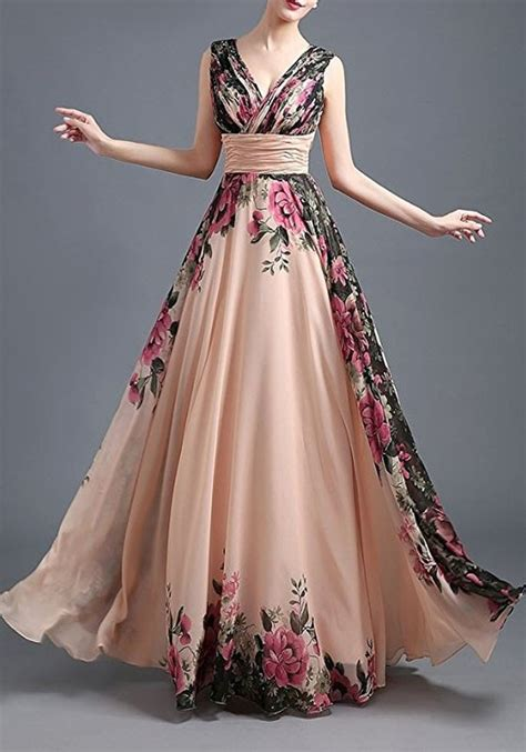 size 5 wedding rings chagne floral draped plunging neckline maxi