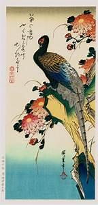 Japanese Ukiyo-e Woodblock print Ando Hiroshige Flowers ...