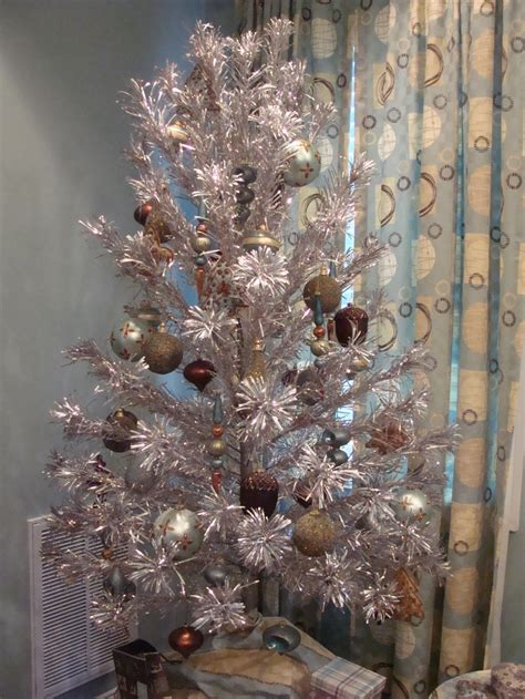 antique aluminum christmas tree love the holidays