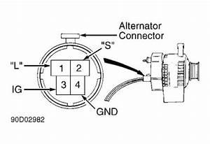 1995 isuzu rodeo question alternator plug electrical With isuzu w 4 wiring