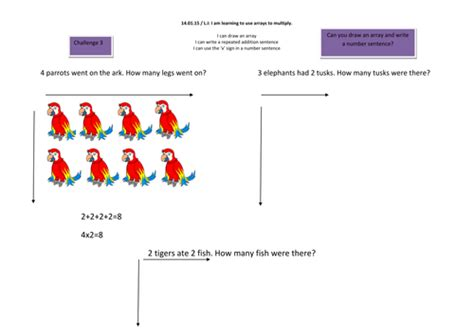 year 1 multilplication repeated addition and arrays by