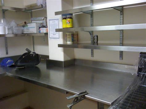 Shelving Ideas Stainless Steel Wall Shelving Kitchen