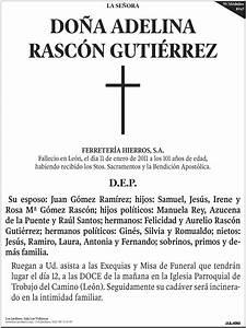 Esquela Diario de León página completa, Esquelas Diario de León, Esquelas prensa, Tienda