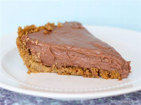 easy chocolate pie recipe with pudding and cheese the weary chef