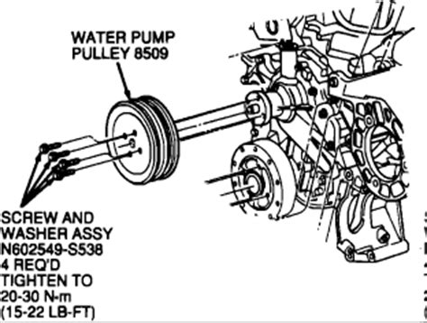 2000 Ford Tauru Waterpump Diagram by 1990 Ford Taurus Water Replacement Engine Cooling