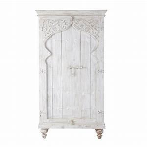 Schrank Weiß Holz : schrank aus mangoholz b 102 cm wei sinbad maisons du monde ~ Indierocktalk.com Haus und Dekorationen