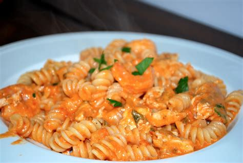 Shrimp Chicken Fusilli In A Ros Sauce Bevy Richmond