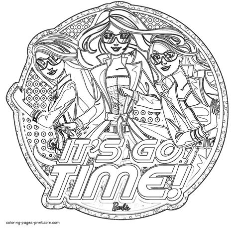 coloring pages barbie spy squad coloring pages printablecom