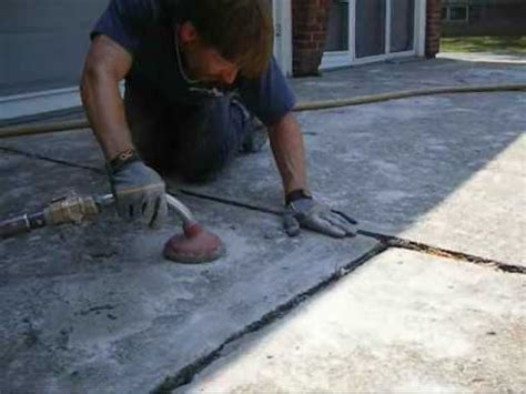 concrete leveling video  driveway leveling project