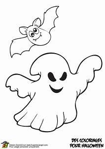 Dessin Citrouille Facile : coloriage fantome et chauve souris sur ~ Melissatoandfro.com Idées de Décoration