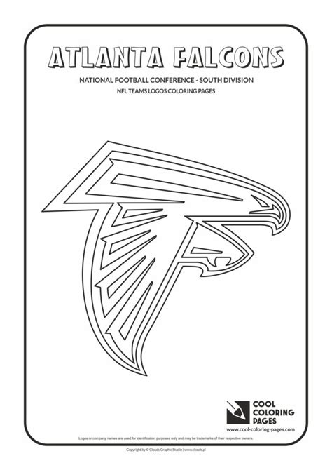 cool coloring pages atlanta falcons nfl american