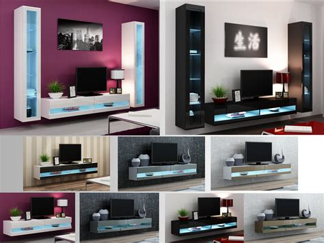 high gloss living room furniture tv stand wall mounted